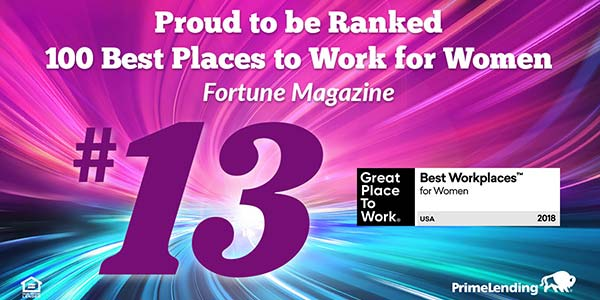 Proud to be ranked number 13 out of 100 for best workplaces for women