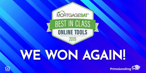 PrimeLending Wins MortgageSAT Award for Best-in-Class Online Tools